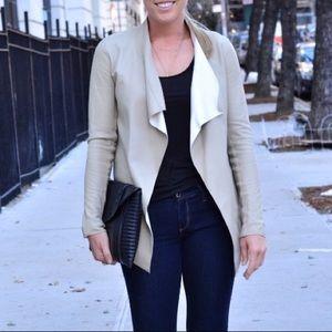 Mackage drape front leather jacket
